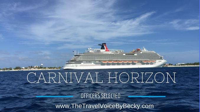 Carnival Horizon officers blog image