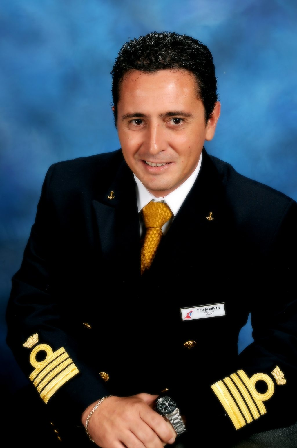 Carnival Horizon officers Captain Luigi De Angelis