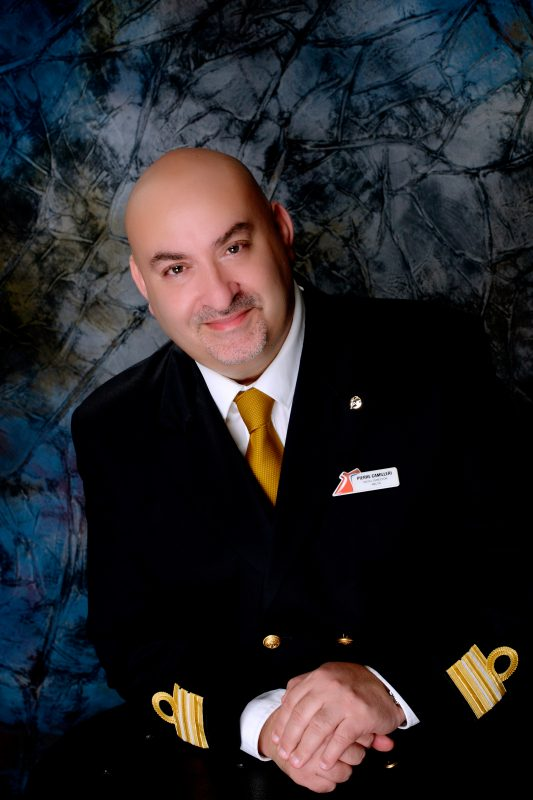 Carnival Horizon officers Hotel Director Pierre Camilleri