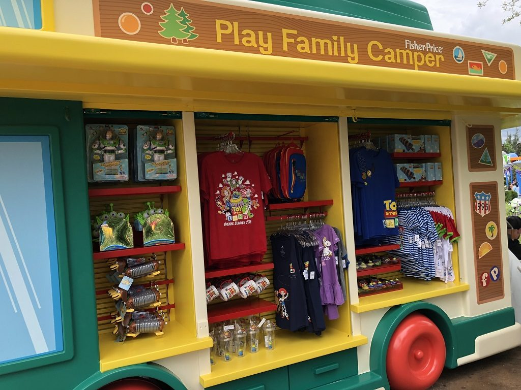 Toy Story Land souvenir stand